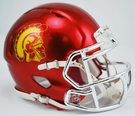 USC Trojans - Chrome Alternate Speed Riddell Mini Football Helmet