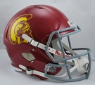 USC Trojans Riddell NCAA Full Size Deluxe Replica Speed Football Helmet
