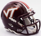 Virginia Tech Hokies Speed Revolution Riddell Mini Football Helmet
