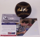 Wade Boggs - Autographed Official Rawlings Black MLB League Baseball - PSA/DNA