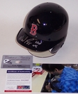 Wade Boggs - Riddell - Autographed Batting Mini Helmet - Boston Red Sox - PSA/DNA
