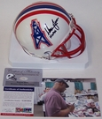 Warren Moon - Riddell - Autographed Mini Helmet - Houston Oilers - PSA/DNA