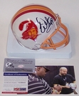 Warren Sapp - Riddell - Autographed Mini Helmet - Tampa Bay Bucs Throwback - PSA/DNA