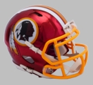 Washington Redskins - Chrome Alternate Speed Riddell Full Size Deluxe Replica Football Helmet