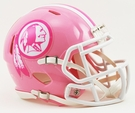 Washington Redskins Pink Speed Riddell Mini Football Helmet