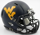 West Virginia Mountaineers Satin Riddell Mini Football Helmet