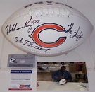 William Perry - Autographed Chicago Bears Full Size Logo Football - PSA/DNA