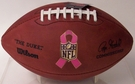 Wilson F1100 Official Leather NFL Game Football - Breast Cancer Awareness