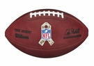 Wilson F1100 Official Leather NFL Game Football - Salute to Military Service