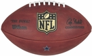 Wilson F1100 Official Leather NFL Game Football - with Colored Team Decal Logo - On Field Football