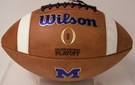 Wilson Official Leather Michigan Wolverines F1008 GST NCAA Football