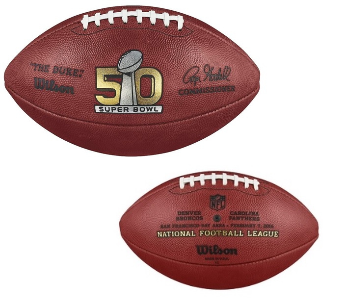Wilson Official Leather NFL® SUPER BOWL 50 Full Size Game Football ed6dc71ea