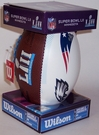 Wilson SUPER BOWL 52 LII Mini Signature Series Football - Eagles Patriots Logo