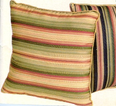 Mateo Stripe 17 inch Corded Throw Pillow - Close Out