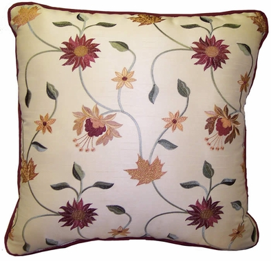 17 x 17 Self Corded Toss Pillow - Choose from 50 + fabrics - Custom Select