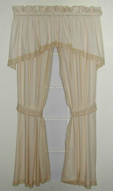Cluny Lace Tailored  Panels and Tier Curtains- CLEARANCE