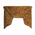 3 Pc Cornice Valance - RED - Eckford Paisley