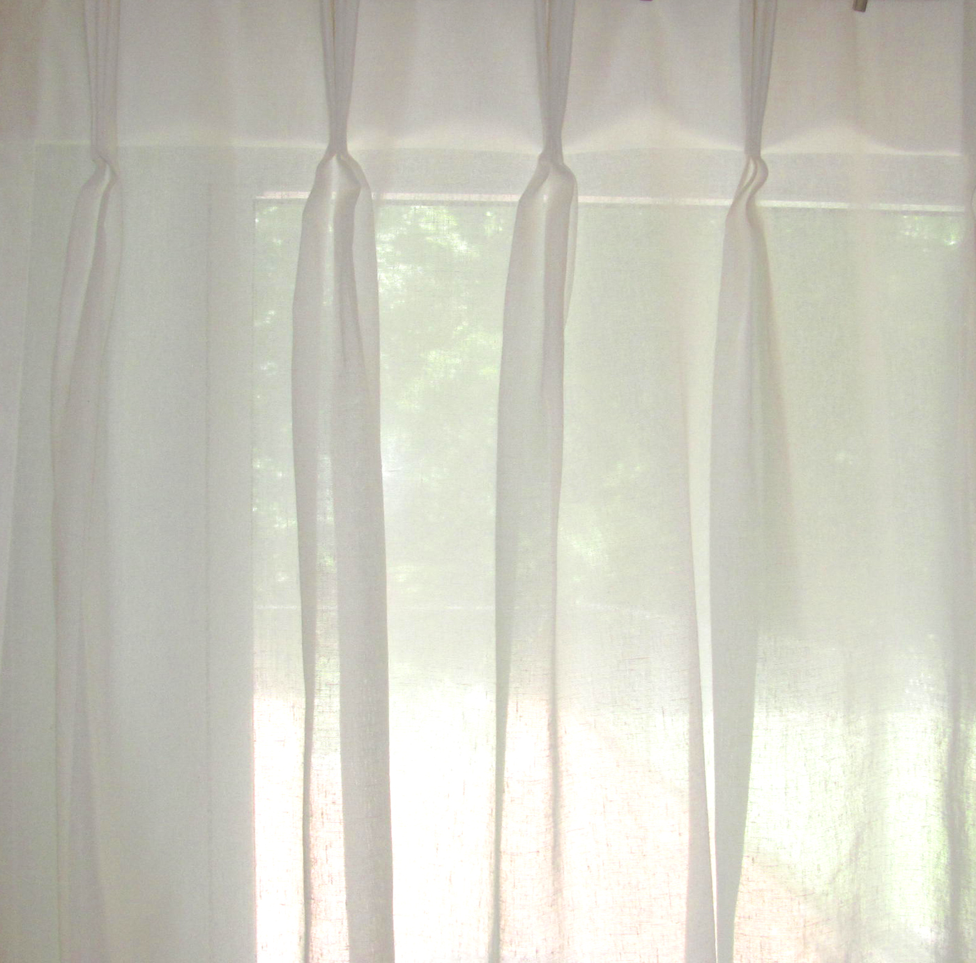 Faux Linen Pinch Pleated Sheers 3 To