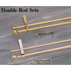 "5/8"" Double Rod Set  - Pewter - Indoor/Outdoor"