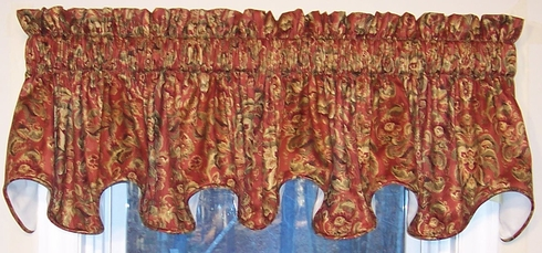 """50"""" Cambridge Valance - Trevisio Russet  (CLEARANCE) - One in stock!!!"""