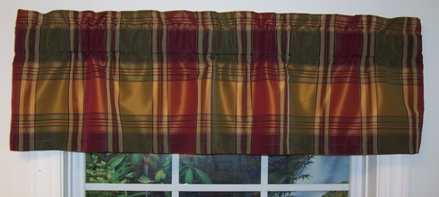 "Borroughs Plaid 50"" Tailored Valance -   - CLEARANCE"
