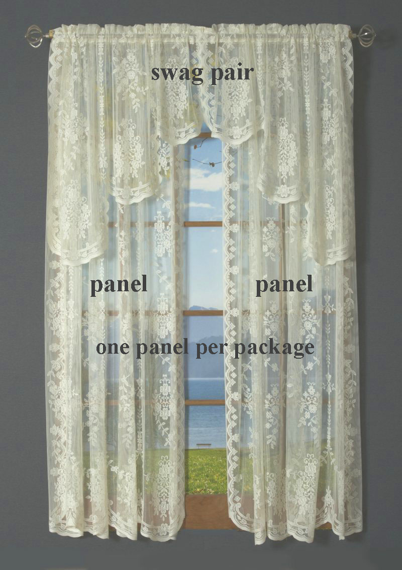 Fiona Lace Rod Pocket Curtain Panel