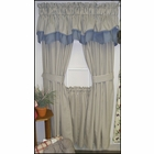 """63"""" Tailored Panel Pair with Tie Backs - Blue Ticking Stripe- CLEARANCE"""