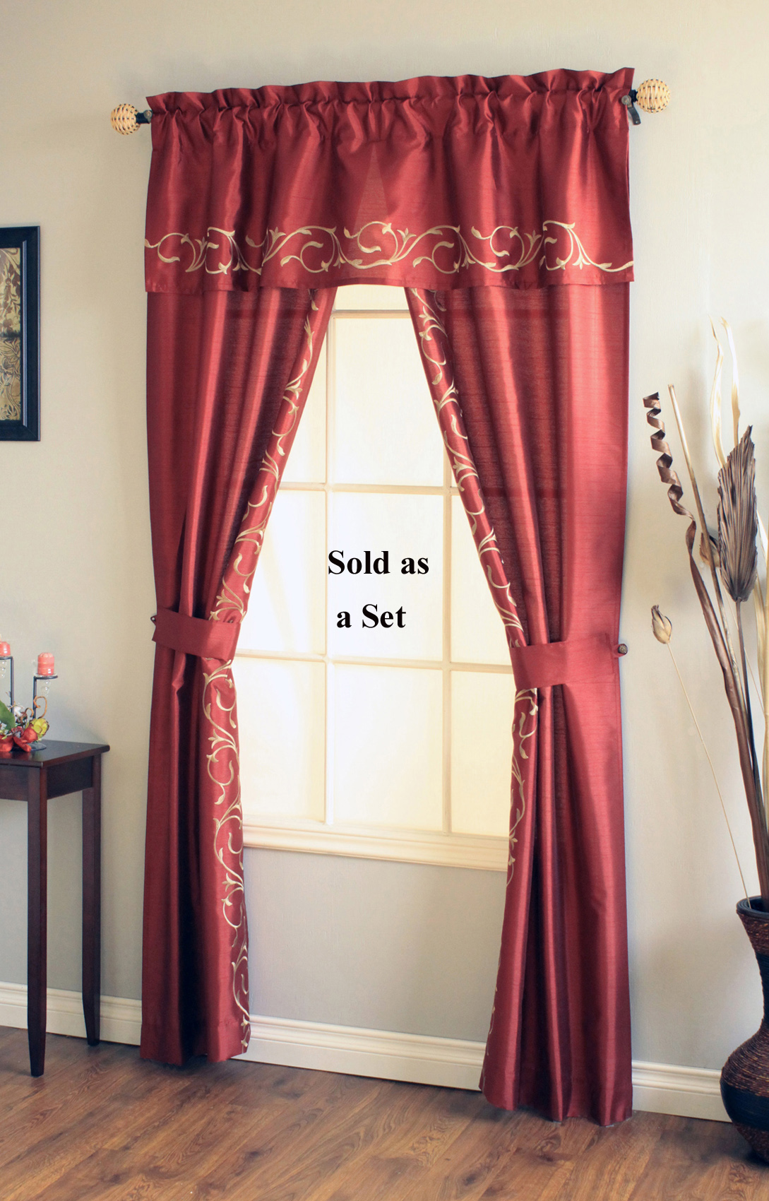 Rod pocket curtains - Boutique free valence ...
