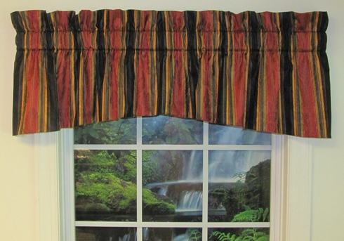 "75"" Jasper Valance - Dorthea Stripe Ebony - CLEARANCE"