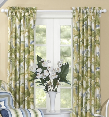 """84""""L Rod Pocket Curtain Pair - Cayman by Thomasville"""