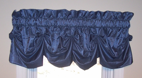 Amalfi Tucked Valance -  Persian Blue  - SOLD OUT