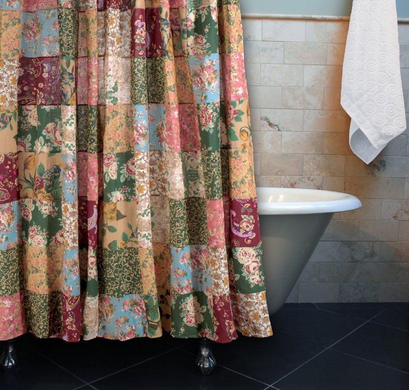 red and turquoise shower curtain.  Shower Curtains TheCurtainShop Com