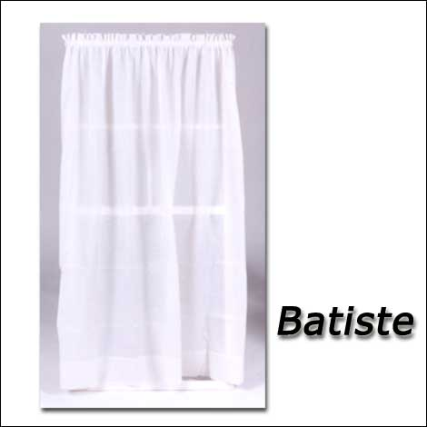 Batiste Sheer Curtains And Door Panels