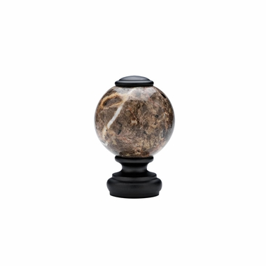 """Belmont Tuscan Marble Finial (pair) for 1-3/8"""" diameter Wood Rod - Select- Select"""