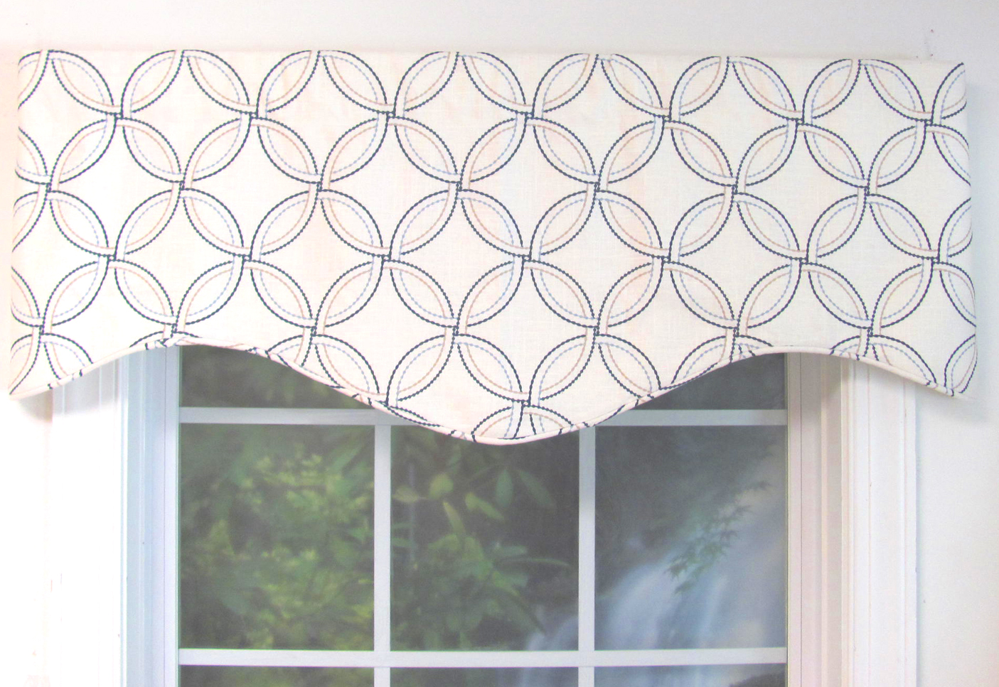 Shaped valances solid patterned cornice box pleat - Boutique free valence ...