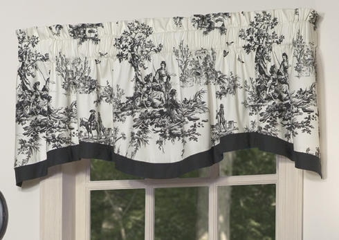 Shaped Valance - Bouvier Black by Thomasville