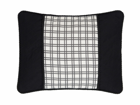 Breakfast Plaid Pillow - Bouvier Black by Thomasville