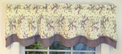 Francesca Lilac Bradford Valance  - SOLD OUT