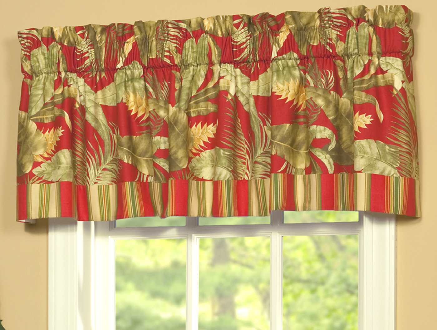 Tailored Valance With Band Captiva By Thomasville