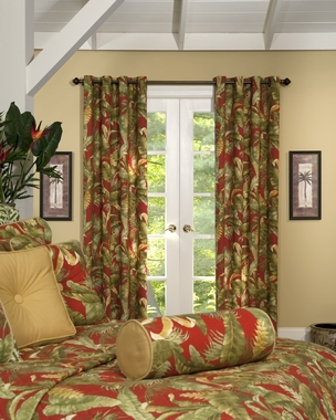 "Captiva 84""L Grommet Curtain Pair"