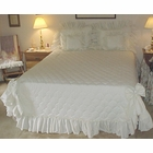 Carolina  Ruffled Country Style King Bedspread - White - SOLD OUT
