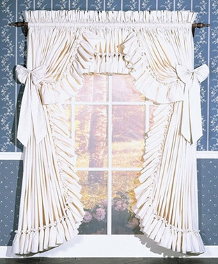 Curtains - Carolina  Ruffled Country Style