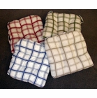 Chair Pad - Logan Plaid Red- CLEARANCE (3 in red)