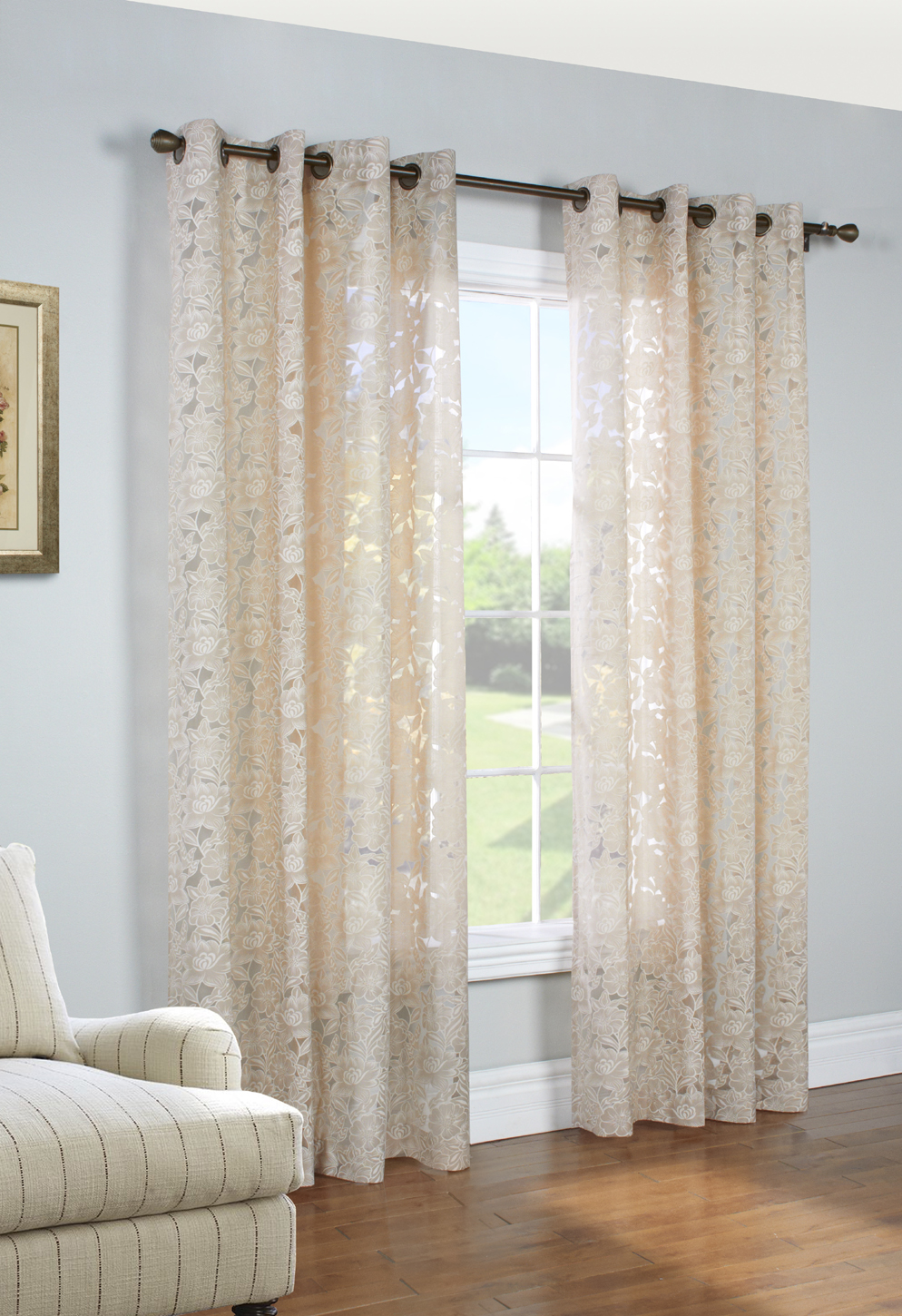 Charlotte Grommet Curtain Panel Zoom
