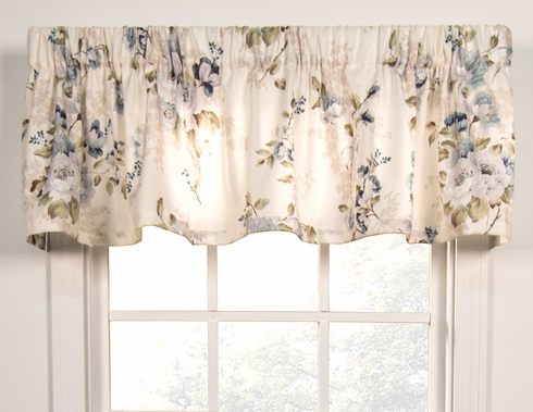 Chatsworth Grey Unlined Tailored Valance