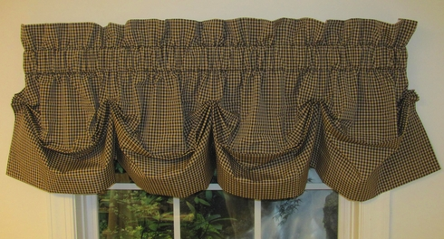 Colburn Tucked Valance - Charcoal - SOLD OUT