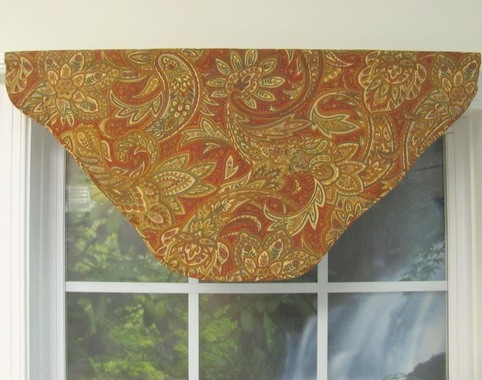 Cornice Center - RED -  Eckford Paisley - CLEARANCE