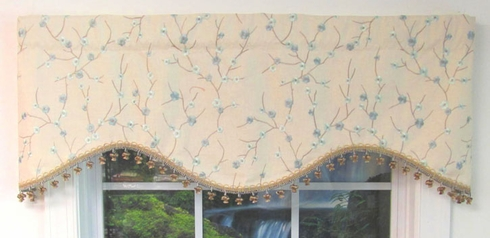 Cornice Valance - Mist Bloom