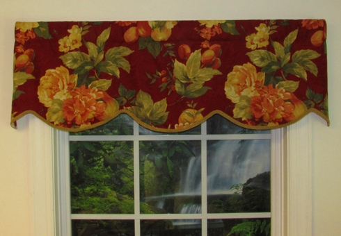Cornice Valance   (not lined)- Bramosole Cabranet - CLEARANCE