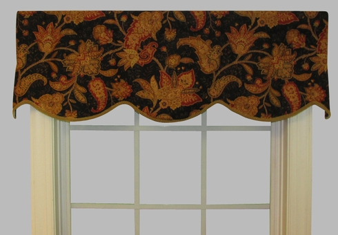 Cornice Valance   (not lined)- Gypsy Dance Black Swan - CLEARANCE